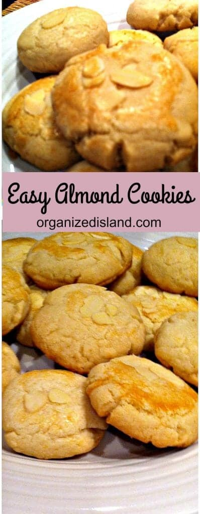 Easy Almond Cookies recipe - they taste perfect!