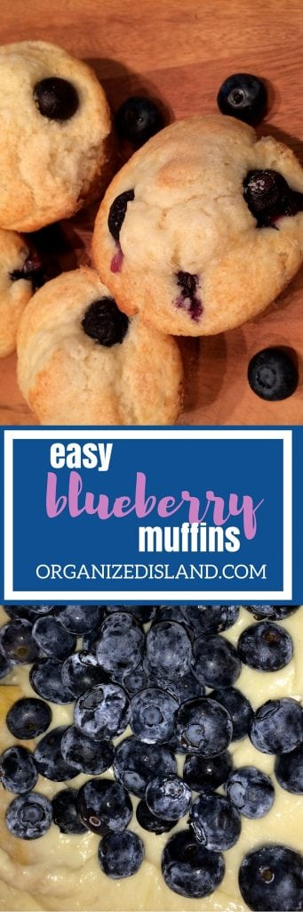 This easy blueberry muffin recipe is so quick that even on the busiest mornings, you can start the day with these light and fluffy treats!