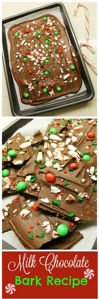 Easy chocolate bark recipe that you can make in the microwave.