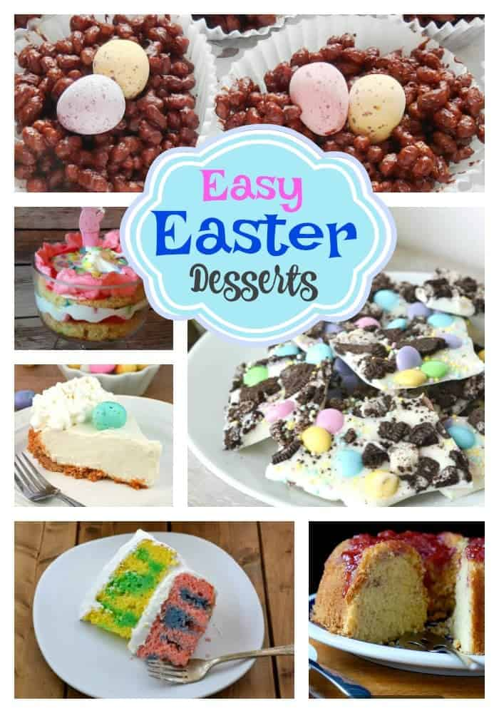 Easy Easter Desserts Round Up