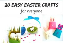 Twenty awesome and easy Easter craft ideas.