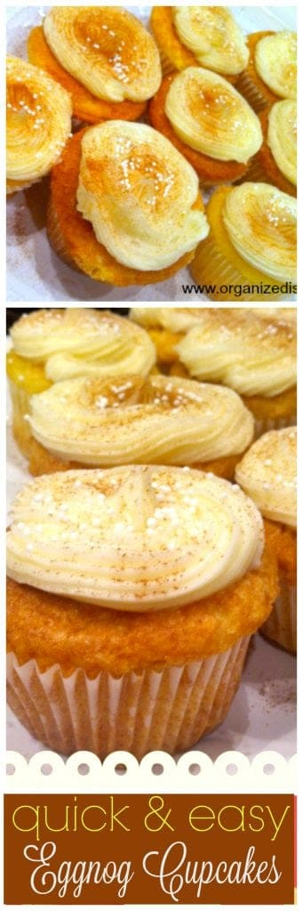 Easy Eggnog cupcakes from a mix