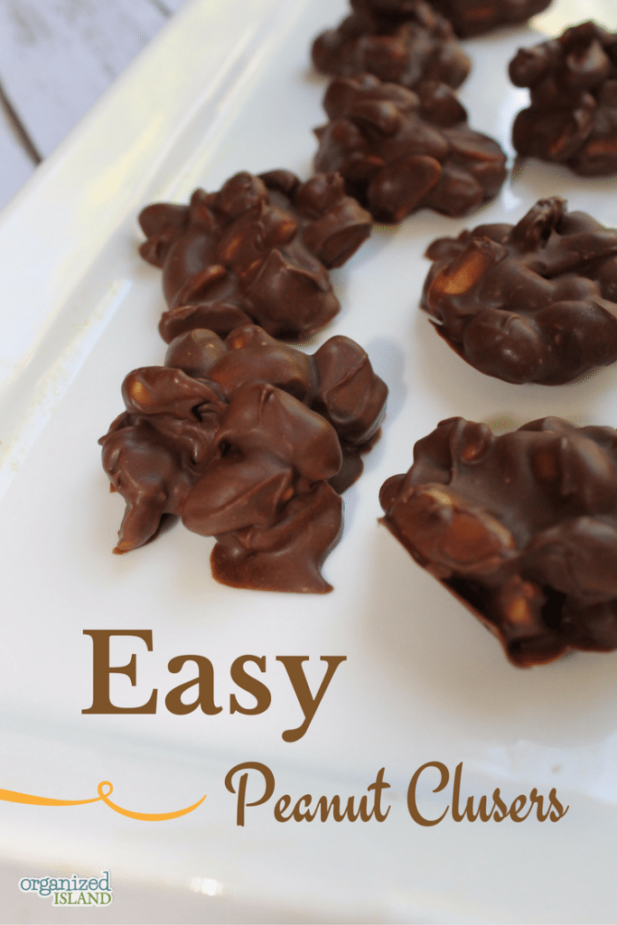 These easy peanut clusters are so good, like the ones I had when I was a kid. So easy to make too!