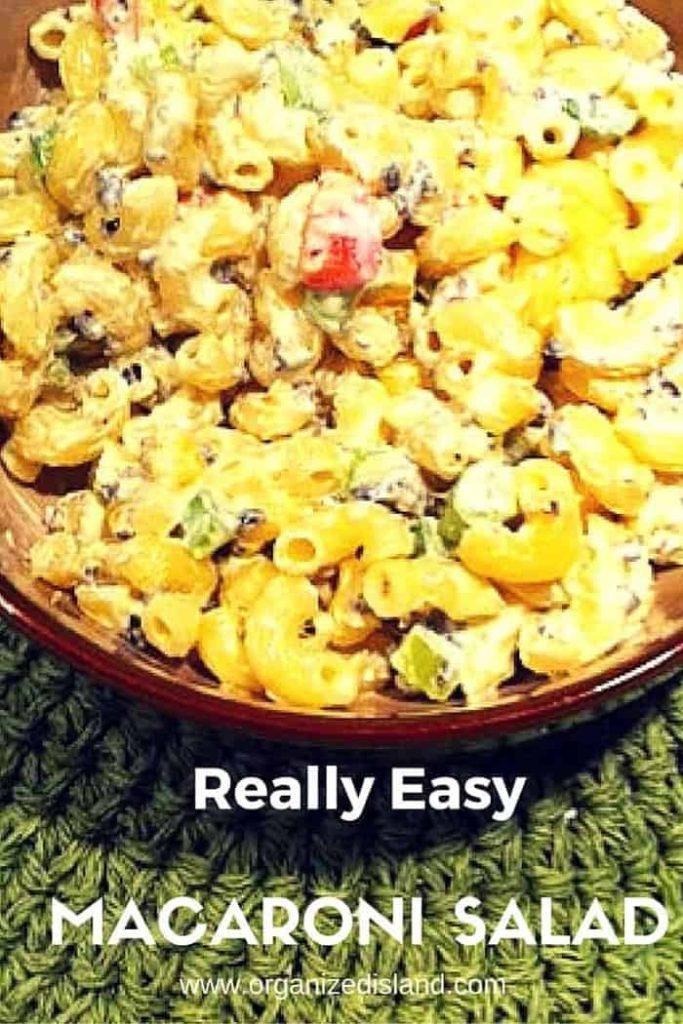 Easy Macaroni Salad recipe - like grandma's but better and a perfect picnic salad recipe