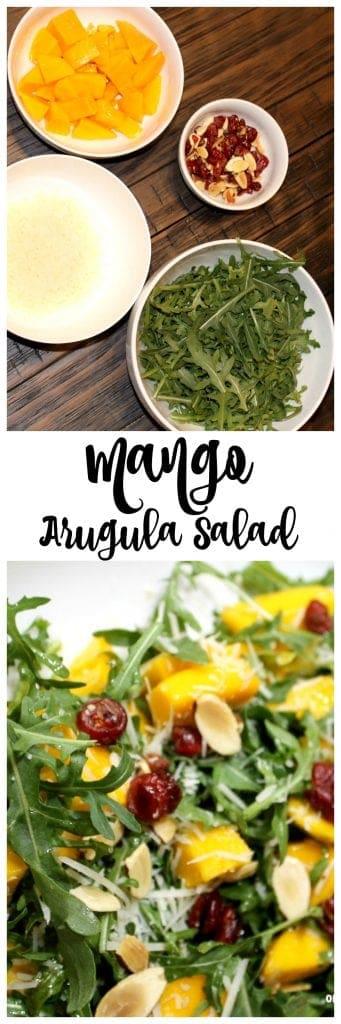 Simple Mango and Arugula Salad recipe!