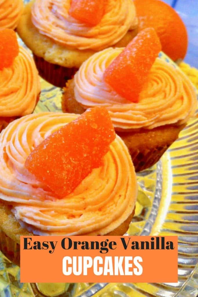 Easy Orange Vanilla cupcakes