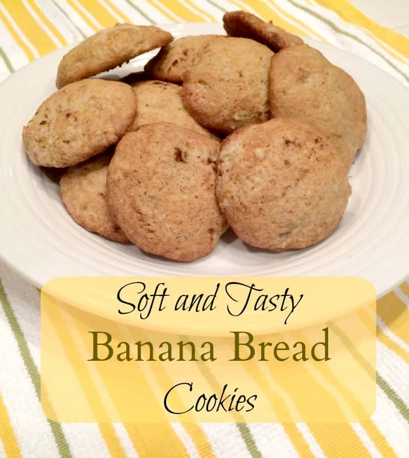 Easy Recipe for Banana Bread Cookies - Tastes just like banana bread in a little bite!