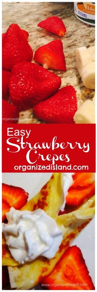 Want to change things up a bit? Try making these strawberry crepes that come together quickly!
