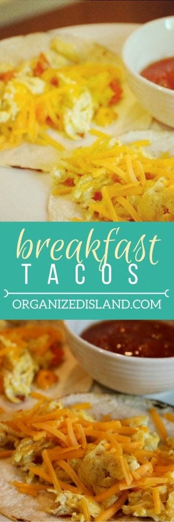 Looking to change up breakfast a bit? Try these quick and easy breakfast tacos!