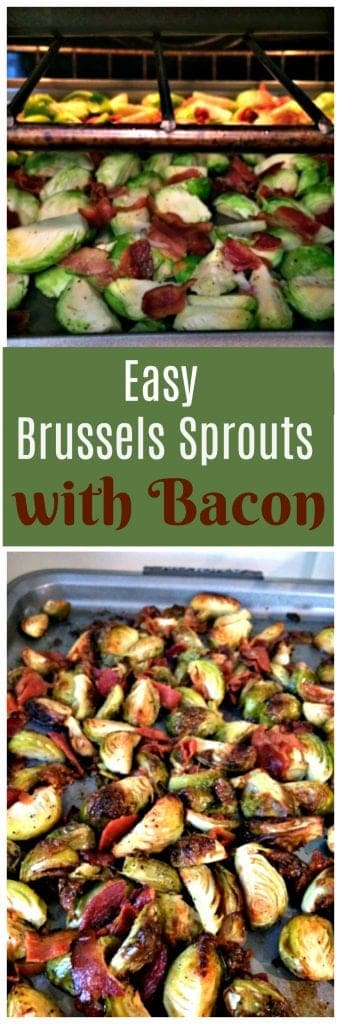 Easy Brussels Sprouts recipe with bacon. So tasty and great as a side dish!
