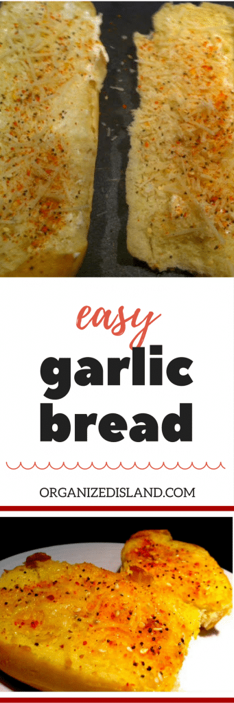This easy garlic bread can be made in just minutes. Great with soup and pasta.!