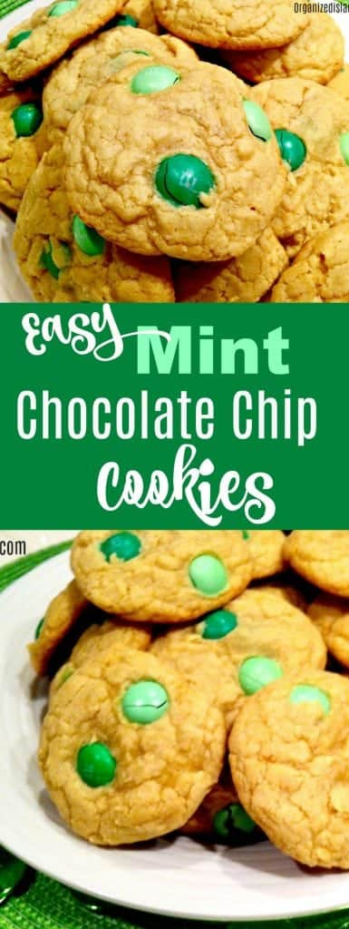 Easy Mint Chocolate Chip Cookies