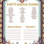 Fall Produce Guide for Menu Planning