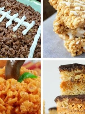 Rice crispy treat ideas for fall.