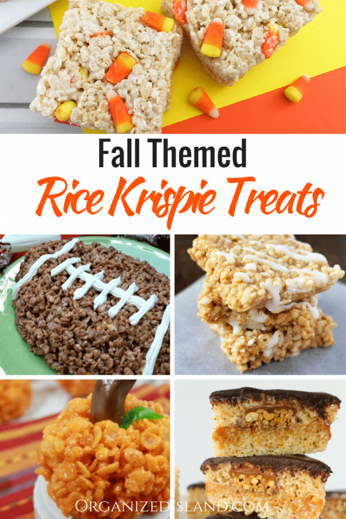 Fall Rice Crispy treat ideas to celebrate the season!