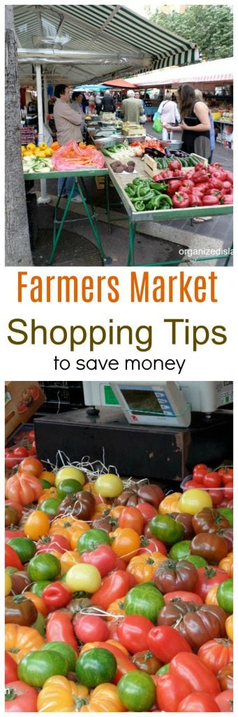 Tips to save money at farmers markets/