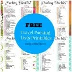 Travel Packing List Printables