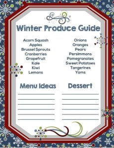Free Printable Winter Produce Guide
