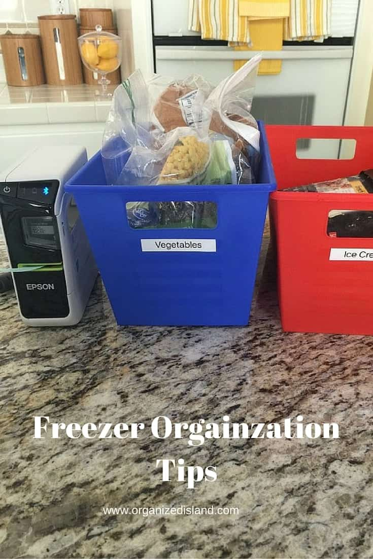Tips to organize your freezer and pantry in 20 minutes! Makes it so much easier to know what is in there!! Sponsored by Epson