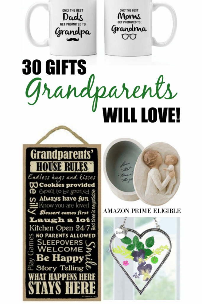 Great Gift Ideas for Grandparents. This site has a list of items you can make or purchase for that special loved one.