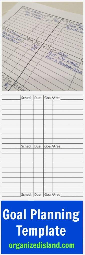 Goal Setting Planner Template
