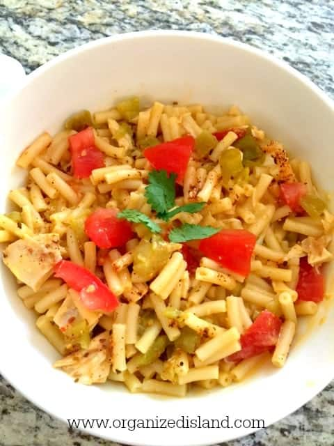 Macaroni and Cheese recipe for a meal made with a boxed mix! So tasty and a cheap dinner idea!