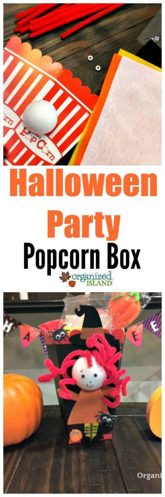 Fun idea for a Halloween party favor - Halloween Party Favor Idea Popcorn Box
