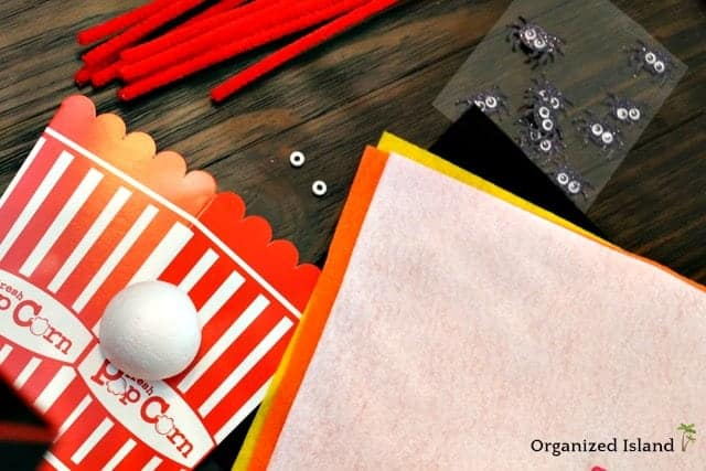 Halloween Party Favor Idea Popcorn Box