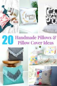 Want to change things up a bit? These 20 homemade pillow and pillow cover ideas are perfect for easily updating decor.