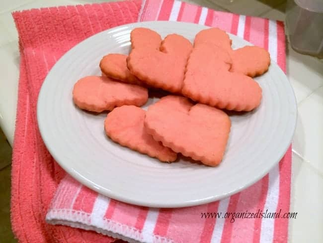 Cream Cheese Valentine Heart Cookies recipe - pretty in pink!