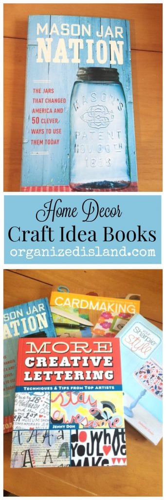 These Home Decor Craft Idea books have many fun decor suggestions. Perfect for the next craft session or for your favorite craft lover.