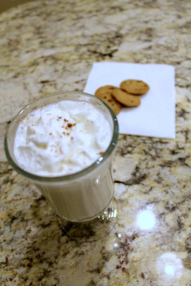 A tasty hot vanilla recipe that is a nice alternative to hot chocolate.