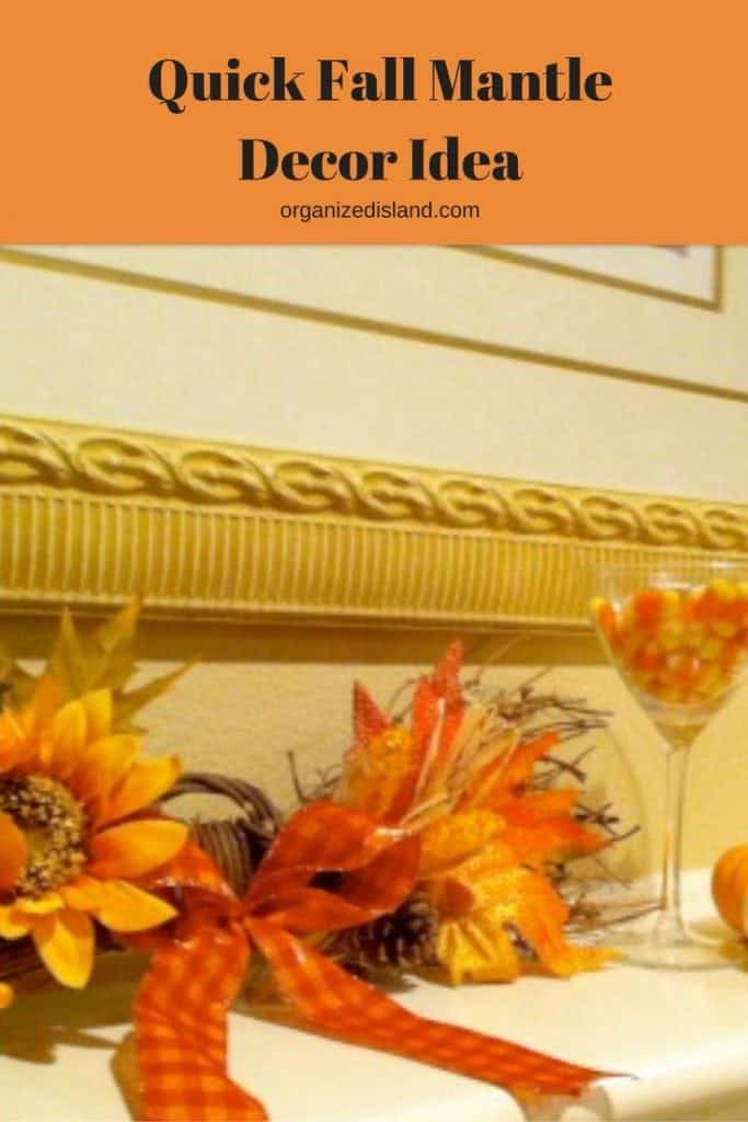 Fall decor ideas are so easy. Check out how I decorated this mantle in minutes.