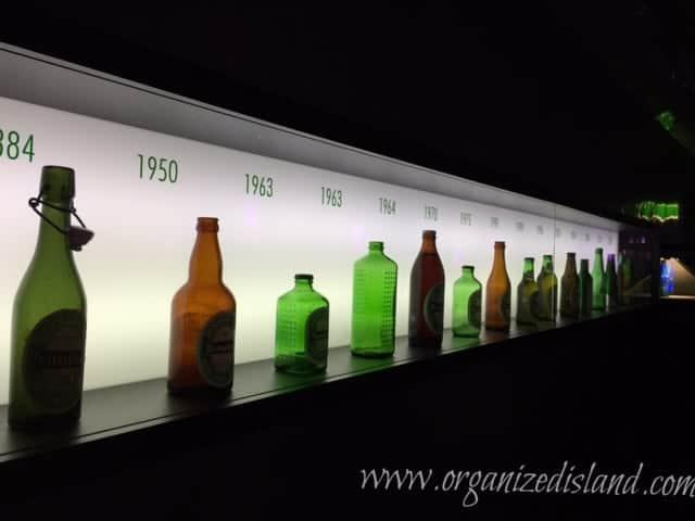Heineken Beer Bottles througout history