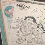 Moana Coloring Sheets Bookmarks and More