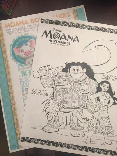 Moana Coloring Sheets Bookmarks and More