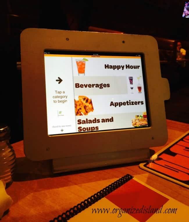 Ipad Menu Restaurant
