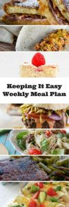 Weekly meal plan ideas for your recipe box.