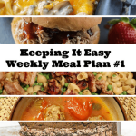Time to Start Using A Weekly Meal Plan