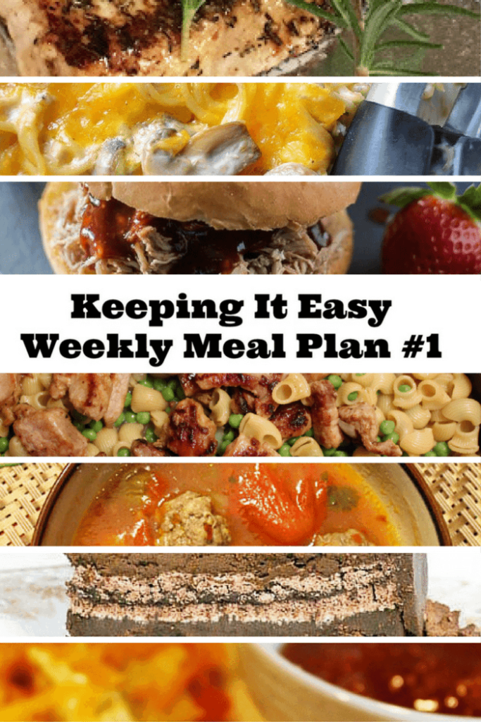 Week one of the keeping it easy weekly meal plan series. Great recipes from food bloggers.