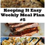 Weekly Meal Plan 5