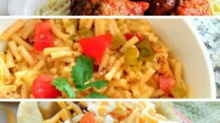 Weekly meal planning ideas for family.