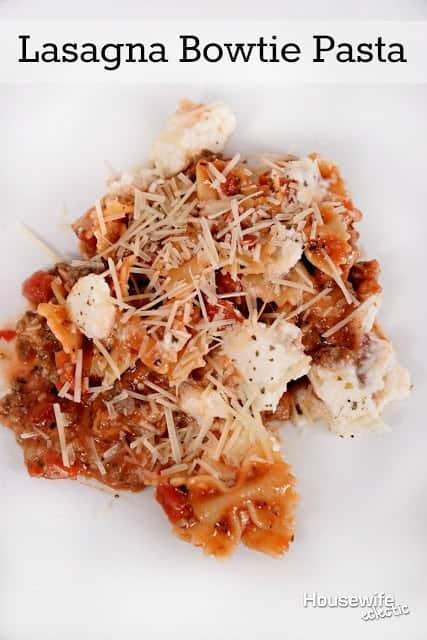 Lasagna Bowtie Pasta