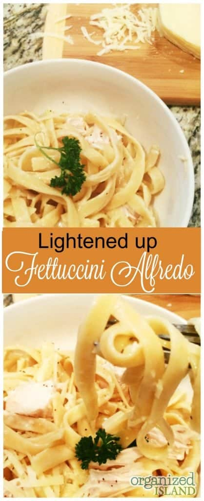 Love fettuccini but not all the calories? Try this lightened up version - it is our new favorite!