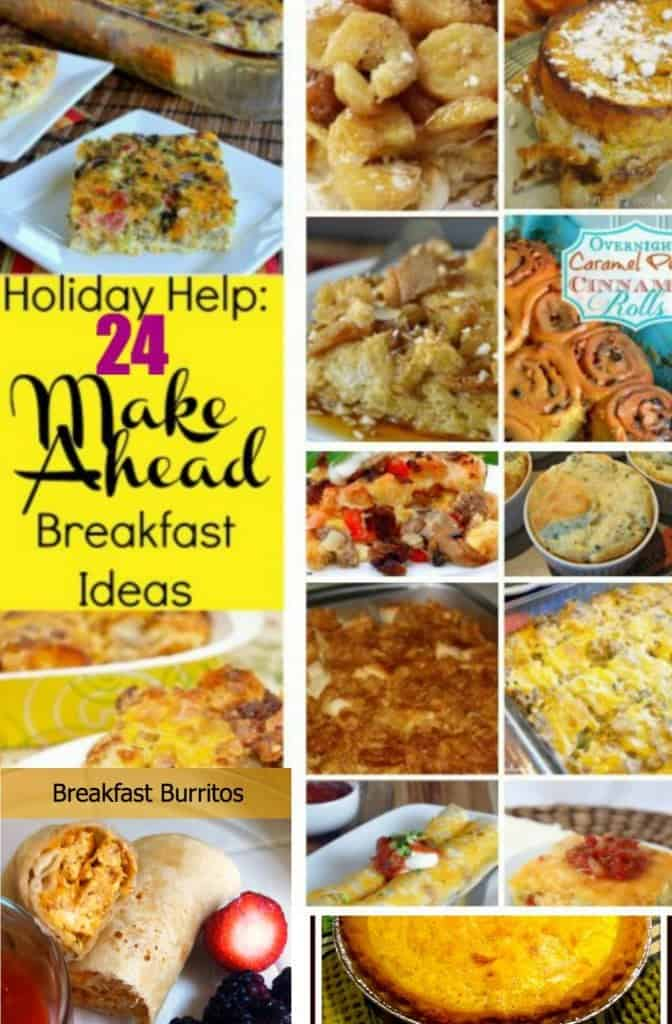 Be ready for the busy holiday season with these 24 make ahead breakfast ideas. Planning with these recipes will let you enjoy your guests and your time!