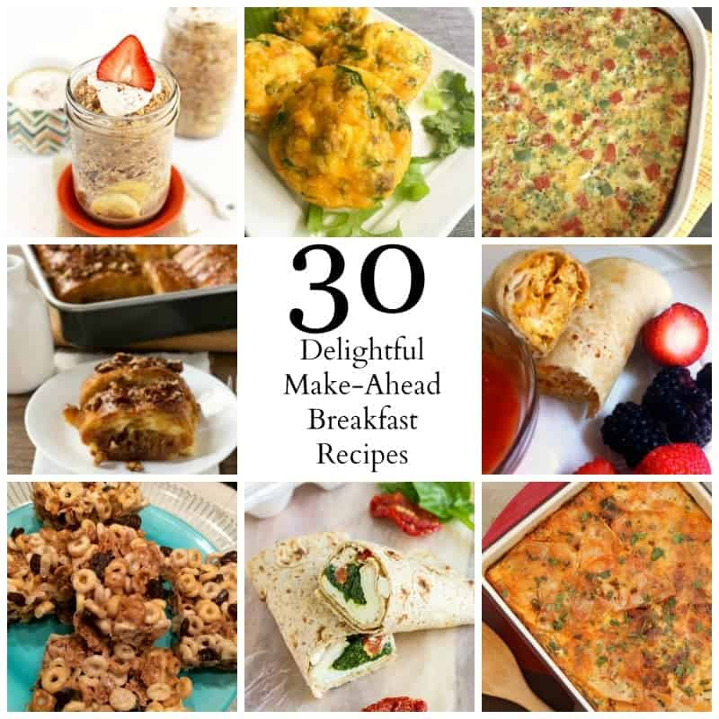 Thirty delightfully awesome make-ahead breakfast recipes from your favorite bloggers!