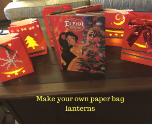 Make Luminara Lanterns for a festive Christmas or Navidad. Craft based on Disney's Princess Elena of Avalor.