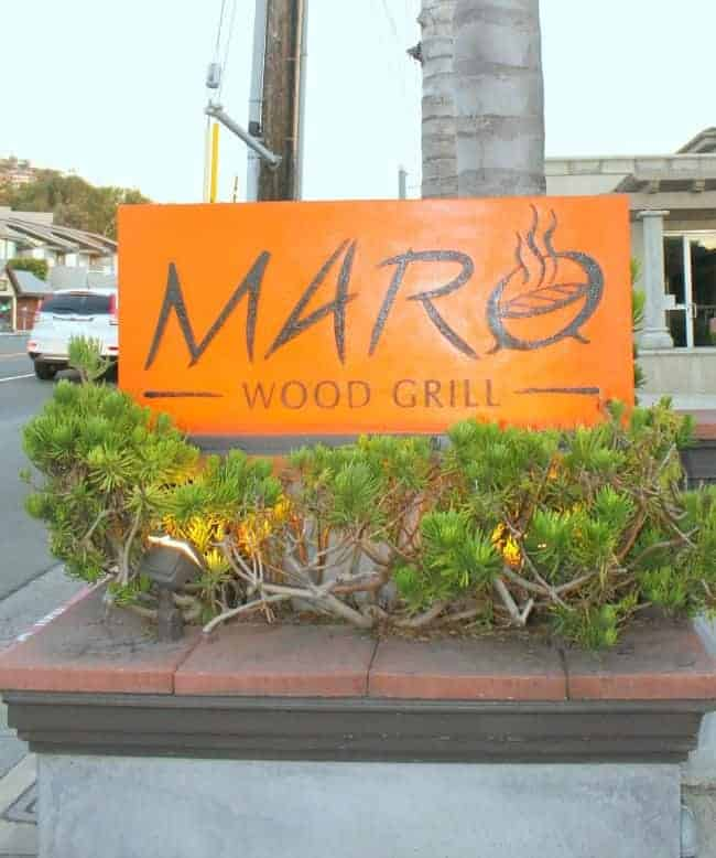 Maro Wood Grill in Laguna Beach - great dinner destination!