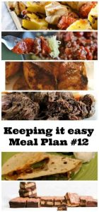 Weekly meal plan for spring - tasty recipes for this time of year.
