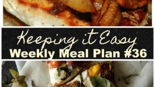 Weekly Menu planning ideas for fall.